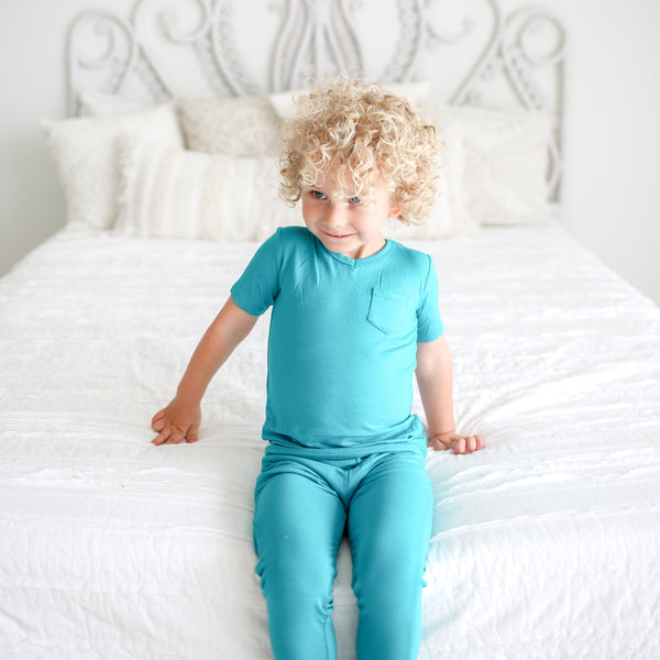 Azure Short Sleeve Pajamas - FINAL SALE