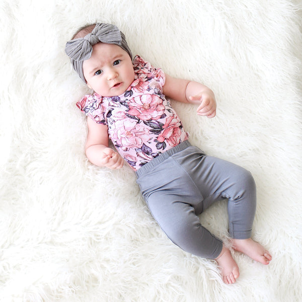Vivi Floral Bodysuit Pajamas - FINAL SALE
