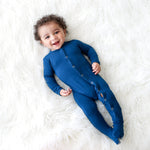 Sailor Blue Footie Snap One Piece