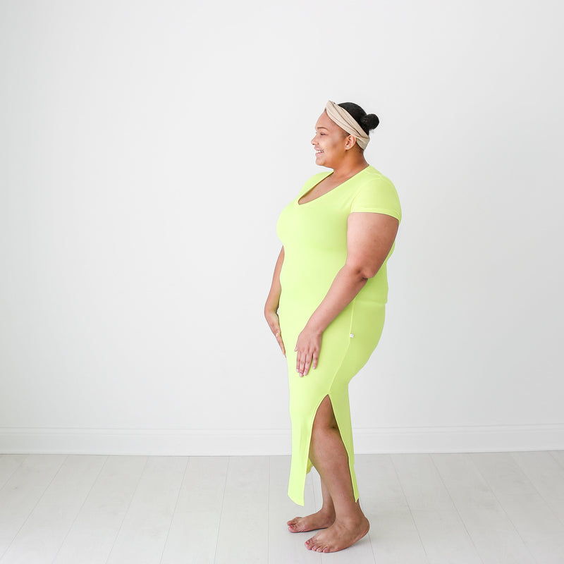 Neon Yellow Mommy Maxi Dress - FINAL SALE