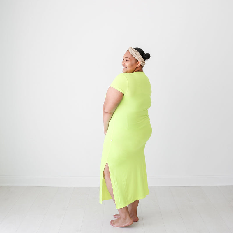 Neon Yellow Mommy Maxi Dress