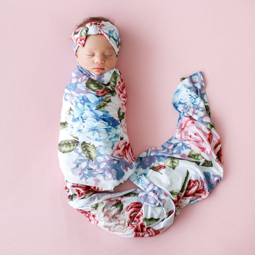 bamboo swaddle- organic bamboo baby swaddles- floral swaddles posh peanut