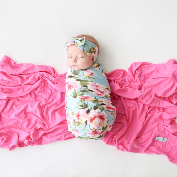 Carolina Floral Swaddle Headband Set - FINAL SALE