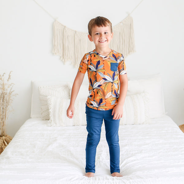 Summer Tropics Short Sleeve Pajamas - FINAL SALE