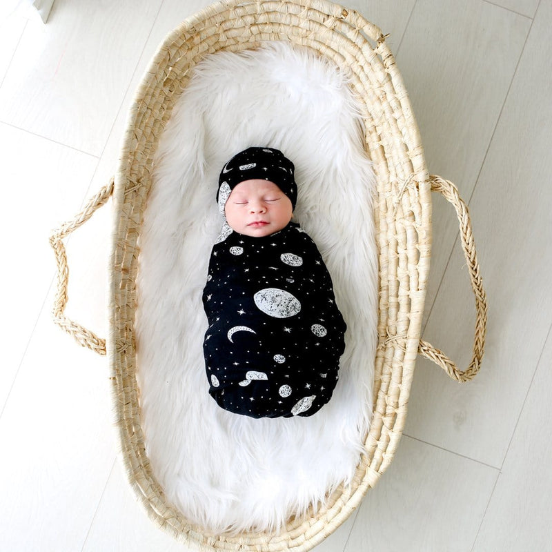Riley Swaddle Beanie Set