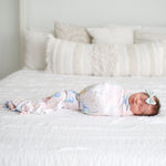 Posh-Peanut-Viscose-Bamboo-Stay-dry-fabric-reliably-chic-and-perfectly-practical-uniquely-designed-of-a-kind-wild spring floral baby swaddle