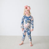 Posh-Peanut-Viscose-Bamboo-Stay-dry-fabric-reliably-chic-and-perfectly-practical-uniquely-designed-of-a-kind-posh peanut loungewear in blue rose