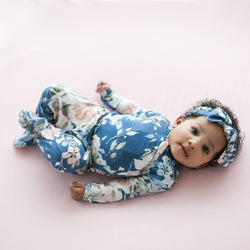 Posh-Peanut-Viscose-Bamboo-Stay-dry-fabric-reliably-chic-and-perfectly-practical-uniquely-designed-of-a-kind-blue rose kimono set with matching headband headwrap
