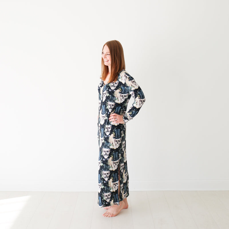 Theodore Black Long Sleeve Maxi Dress