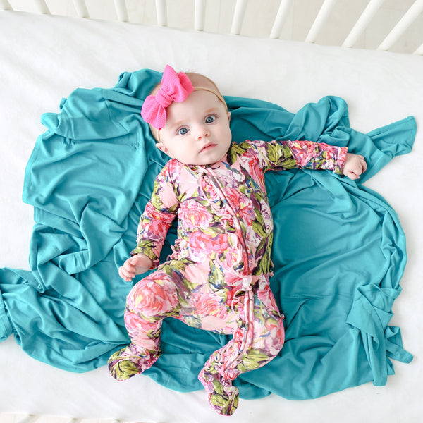 Azure Swaddle Headband Set - FINAL SALE