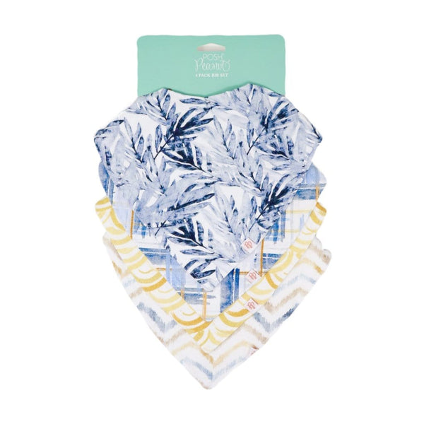 Sunny Days 4-Pack Bandana Bibs - FINAL SALE