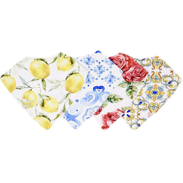Italia 4-Pack Bandana Bibs - FINAL SALE
