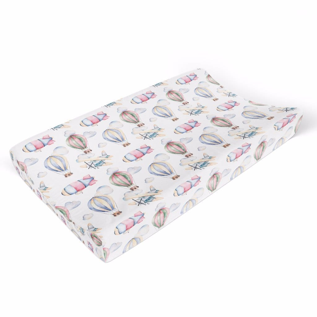 Airplane and Hot Air Balloon Changing Pad Cover