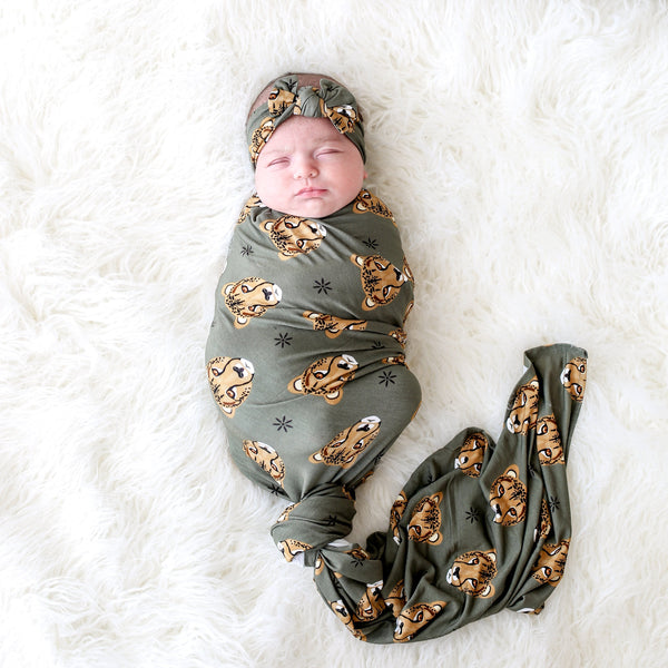 Amina Swaddle Headband Set