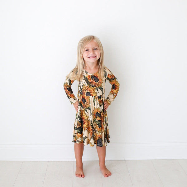 Arev Long Sleeve Twirl Dress