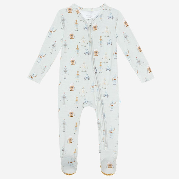 Charlie footie zippered one piece