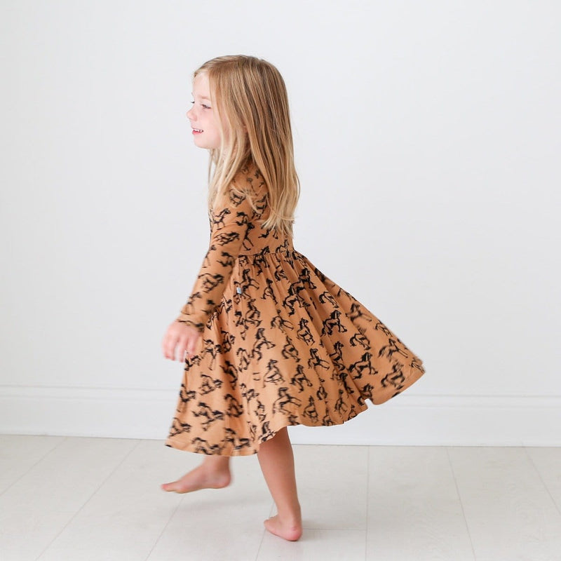 Dakota Long Sleeve Twirl Dress