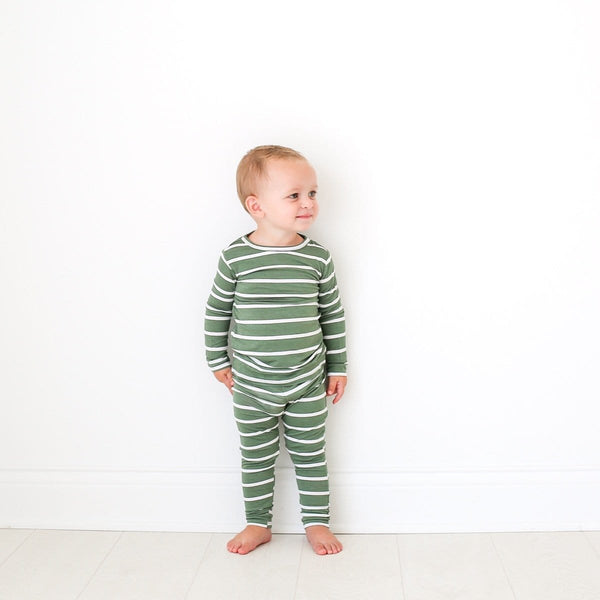 Dark Sage Stripe Pajamas