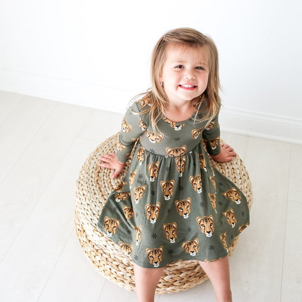 Amina Long Sleeve Twirl Dress