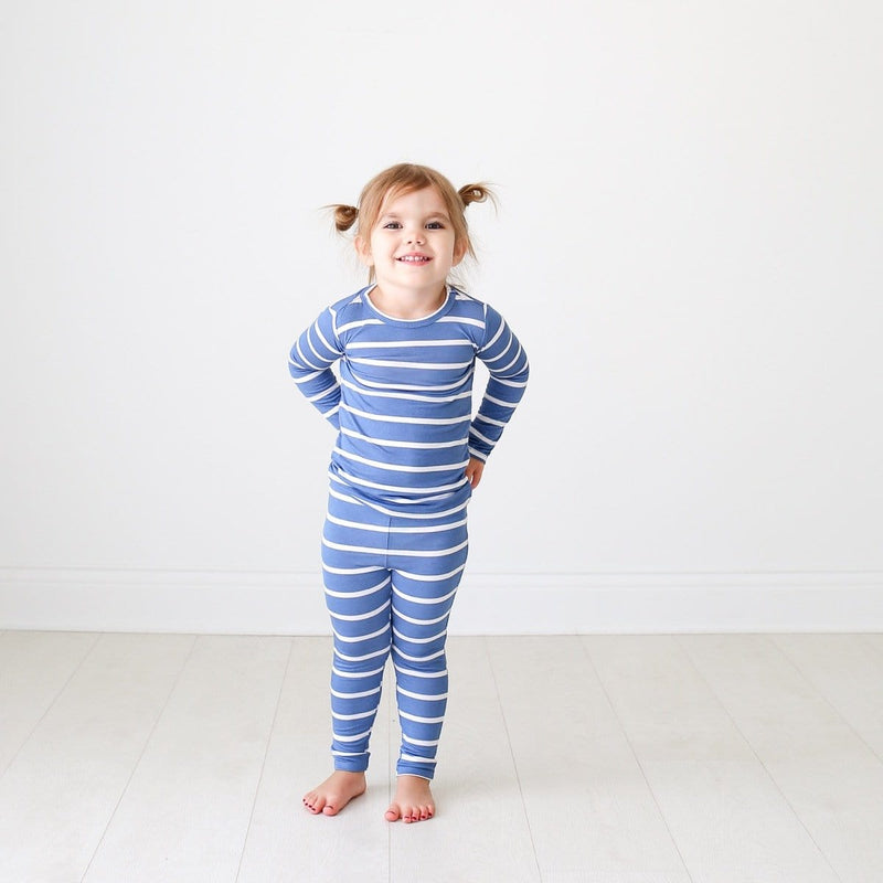 Denim Blue Stripe Pajamas