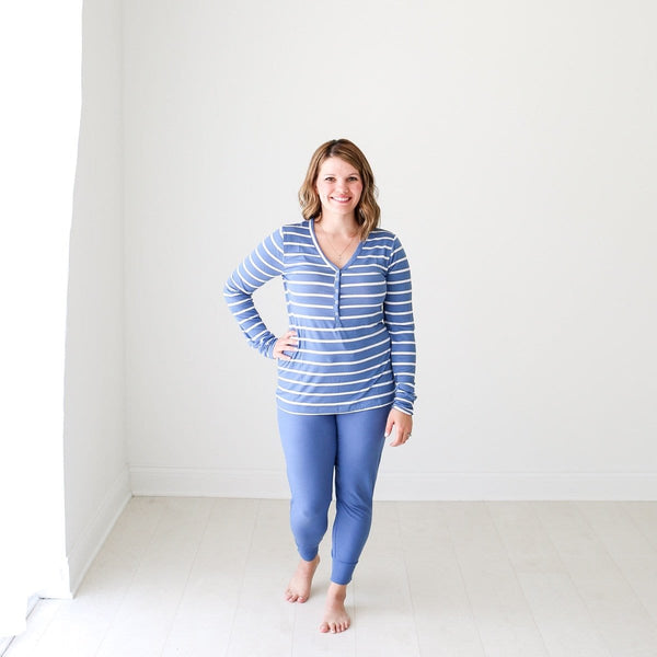Denim Blue Stripe Women's Loungewear