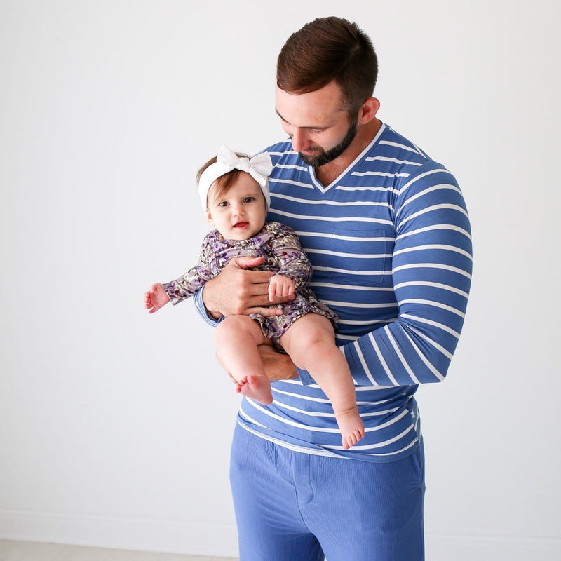 Denim Blue Stripe Men's Loungewear