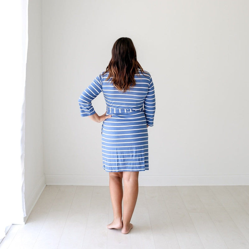 Denim Blue Stripe Robe