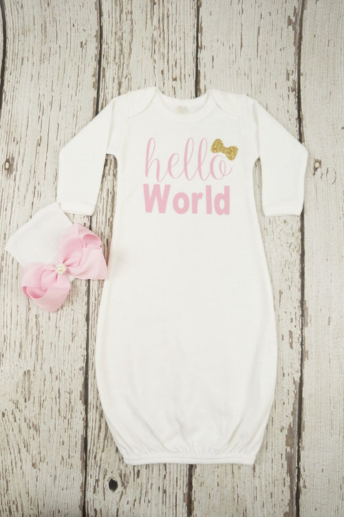Gown Layette Newborn Hospital Take Home Outfit Baby Shower Gift