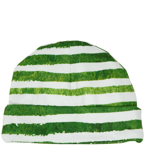 Green Striped Newborn Boy Beanie  d435f4e7eca