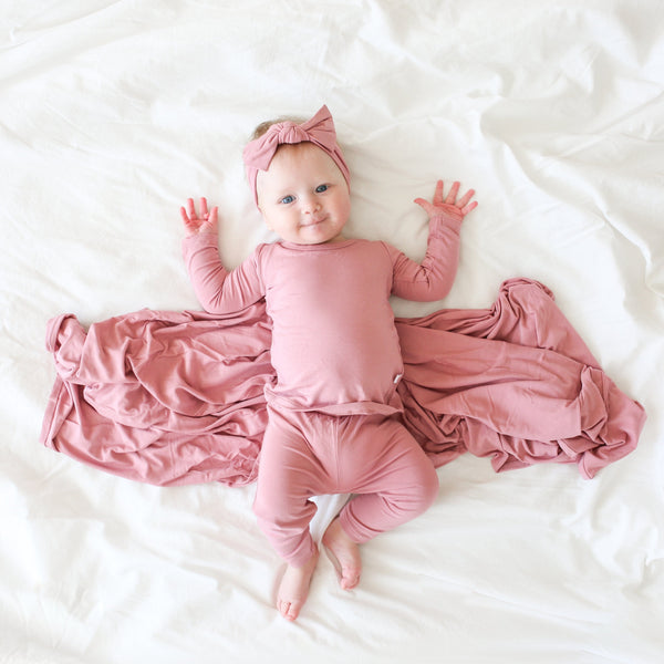 Dusty Rose Long Sleeve Pajamas