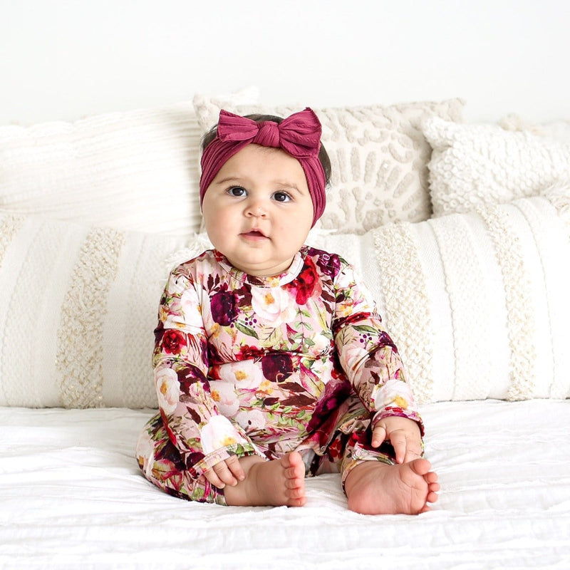 Gracie Floral Ruffled Romper