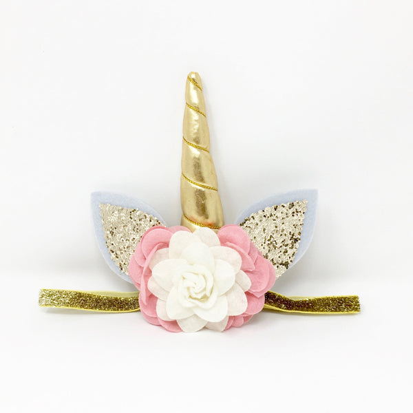 Unicorn Headband Blush and Ivory FINAL SALE