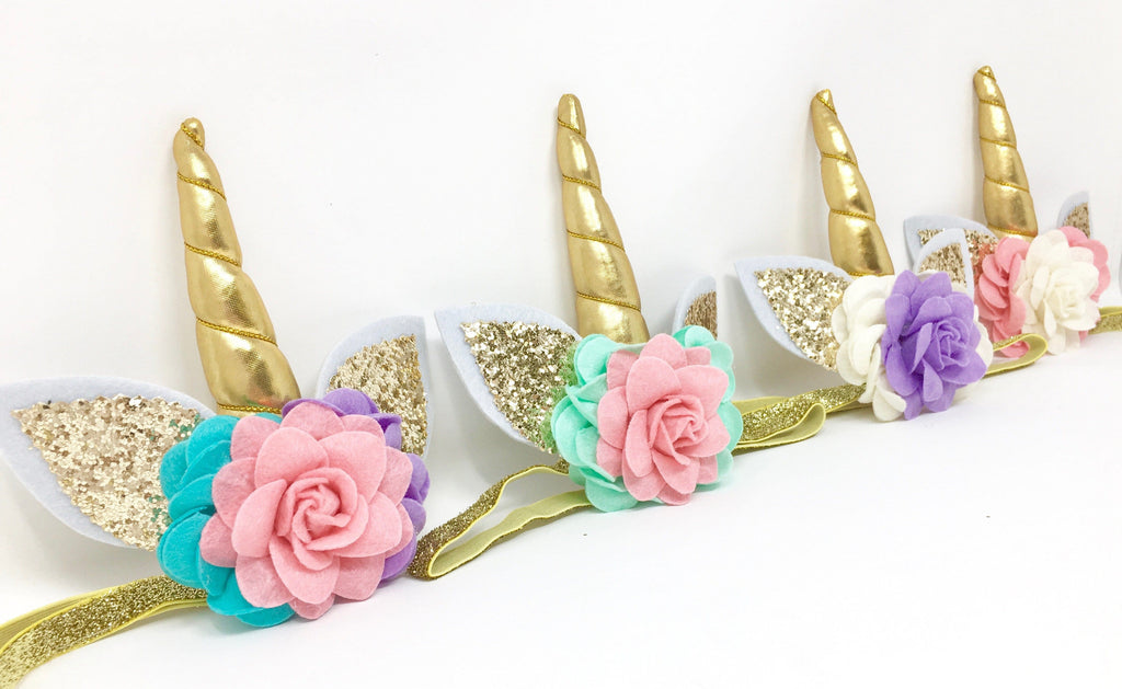 Girls Unicorn Headband In Rainbow Unicorn Baby Headbands