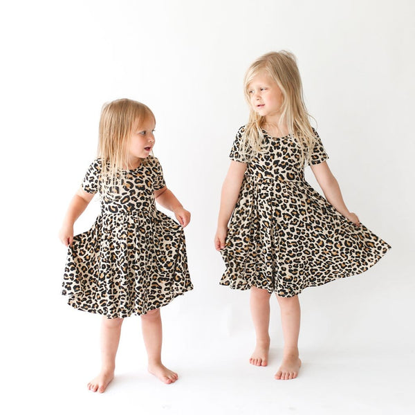 Lana Leopard Tan Twirl Dress