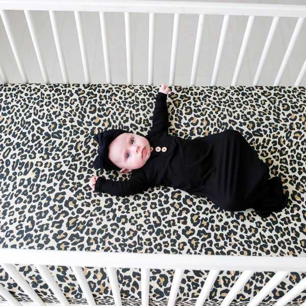 Lana Leopard Tan Crib Sheet