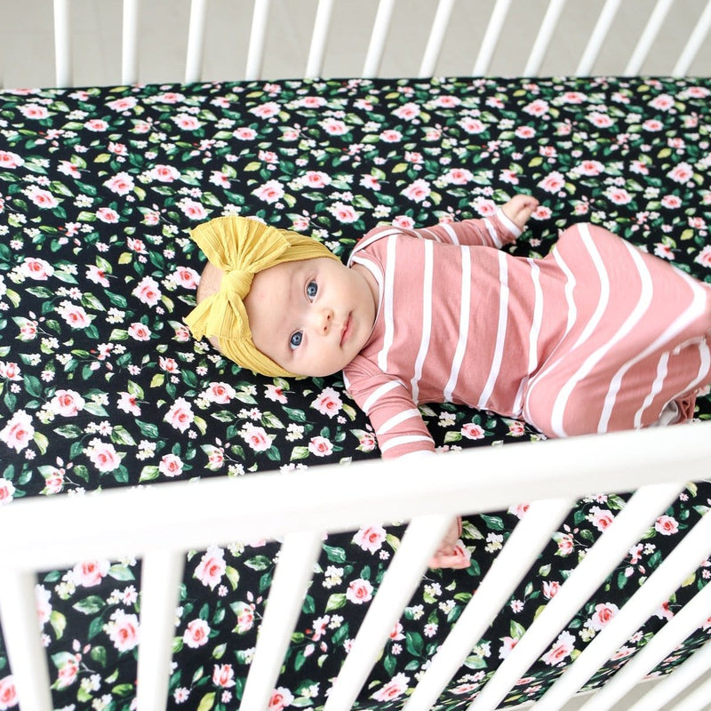 Lina Floral Crib Sheet