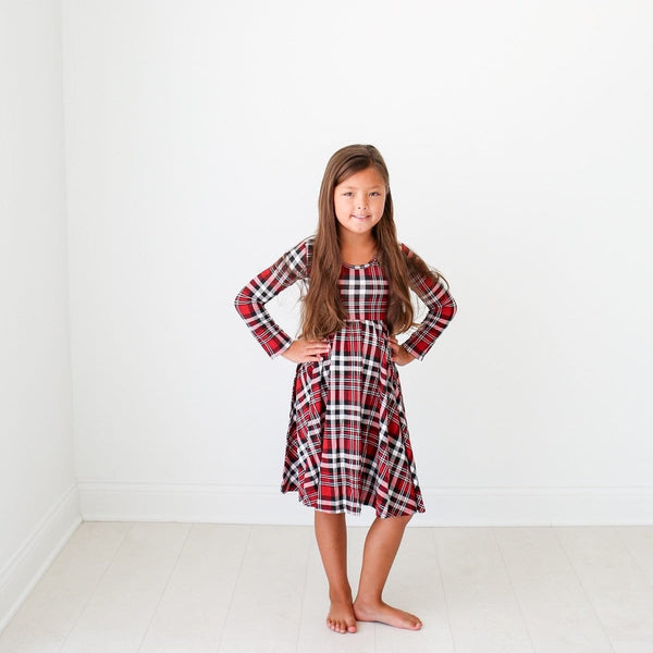 Noah Plaid Long Sleeve Twirl Dress