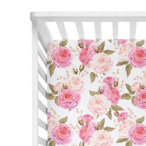 rose crib sheet