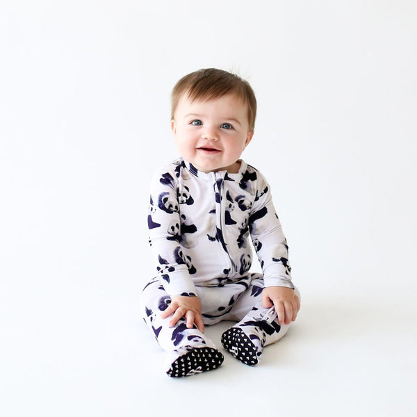 Baby on Axel Footie Zippered One Piece