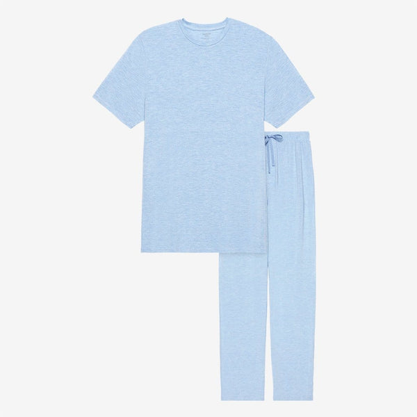 Blue Heather Men's Short Sleeve Loungewear