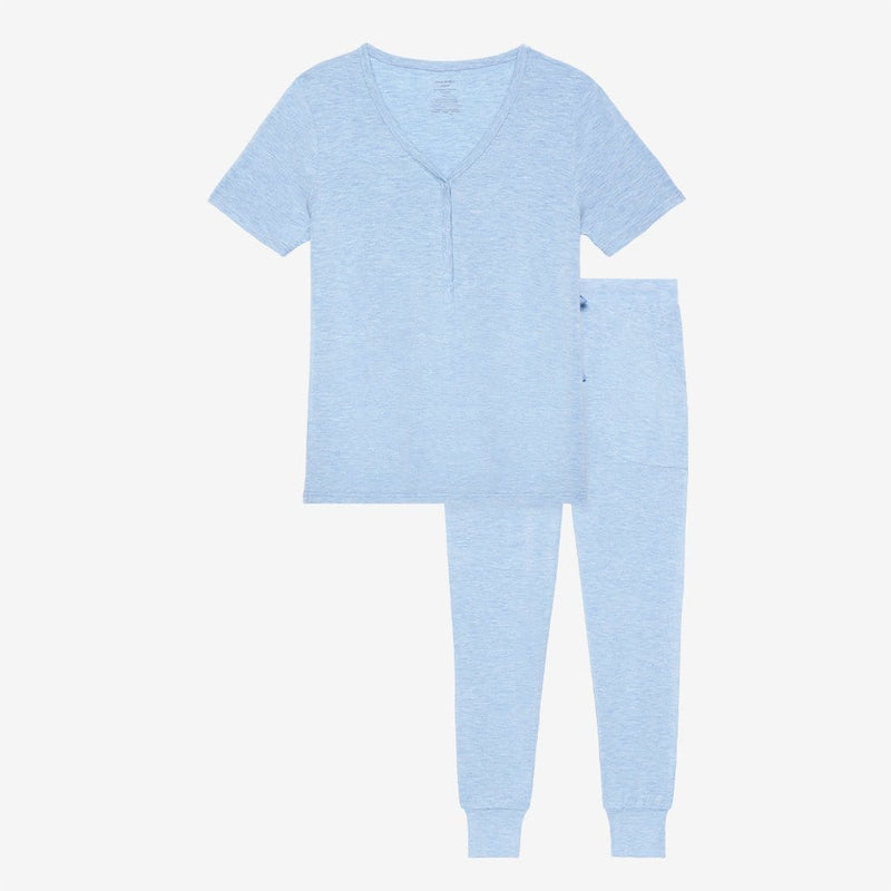 Blue Heather Women's Short Sleeve Loungewear