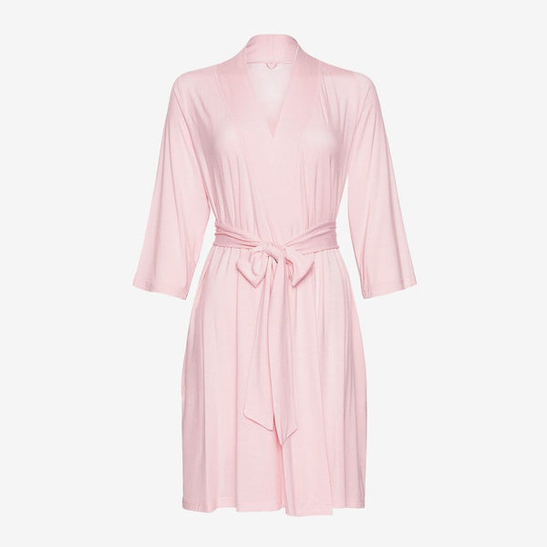 Front of blush robe