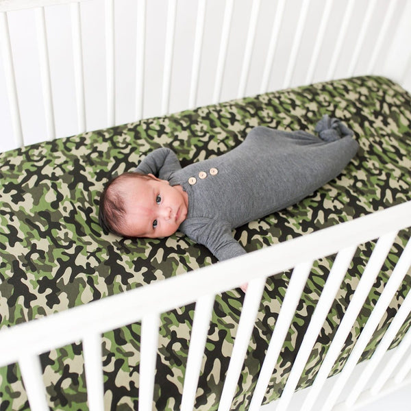 Baby on Cadet Crib Sheet