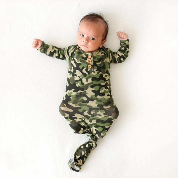 Baby on Cadet Button Knotted Gown