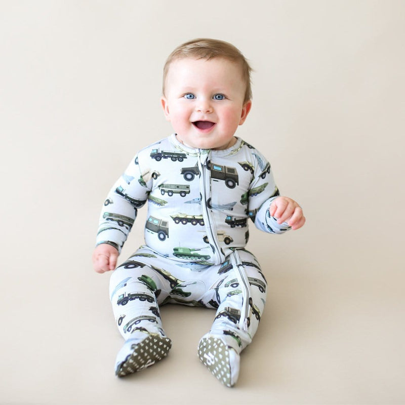 Baby on Cash Footie Zippered One Piece