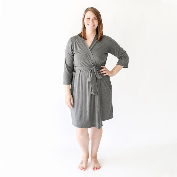 Charcoal Heather Robe
