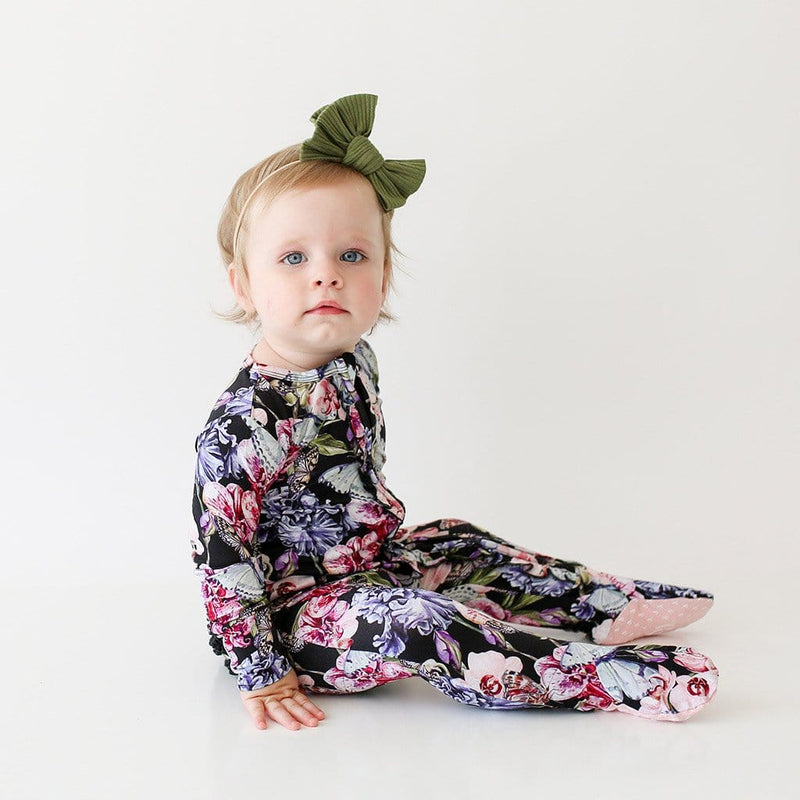 Baby on Chelsea Footie Ruffled Zippered One Piece