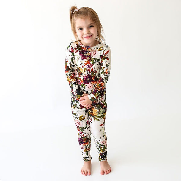 Corinne Long Sleeve Henley Pajamas