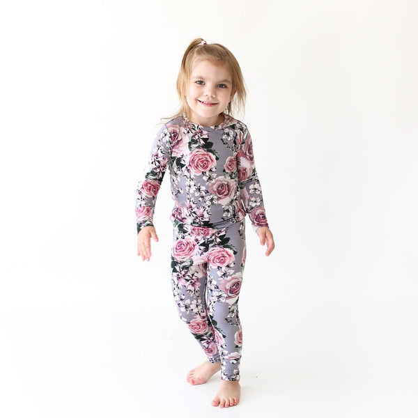 Toddler wearing Daphne Long Sleeve Pajamas
