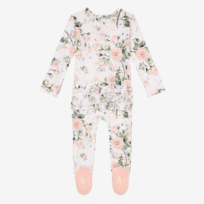 Delilah Footie Ruffled Snap One Piece